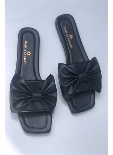 İnan Ayakkabı KADIN FİYONK DETAY TERLİK Siyah